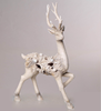 christmas resin standing deer in high quality