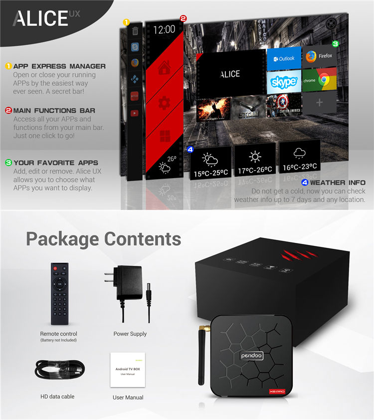 Pendoo X6 PRO | Android 9.0 tv box Allwinner H6 4 GB RAM 32 GB ROM Set top box 4 k กล่องสมาร์ททีวี android 4 k VS TX6