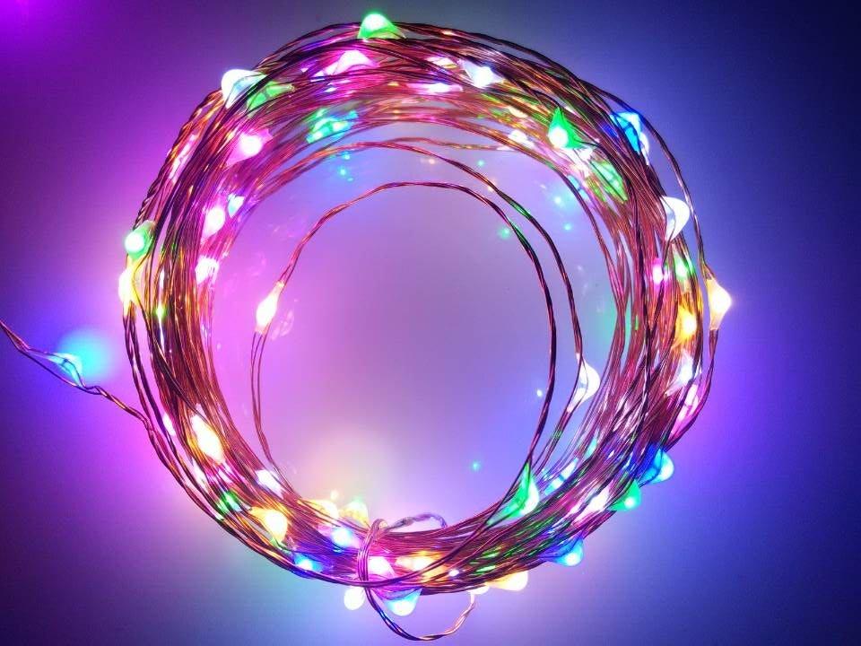Wholesale Christmas Garland Teardrop Led Christmas Lights Copper ...