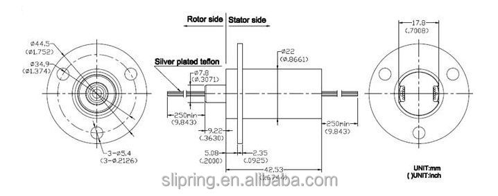 slip ring tappo miniature