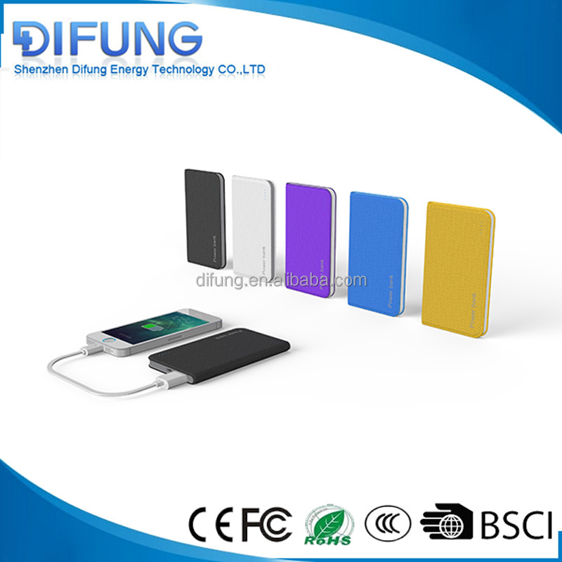 2017 gift portable notebook polymer power bank