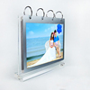Free Standing Vertical Clear Acrylic Photo Calendar Display Stand with base