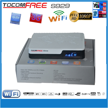 dvb t2 satellite receiver/ tocomfree s929 nagra 3 hd receptor wtih iptv ,3G <strong>buy</strong> in china from colombia