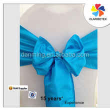 wholesales fancy satin chair sash /chair bow for wedding