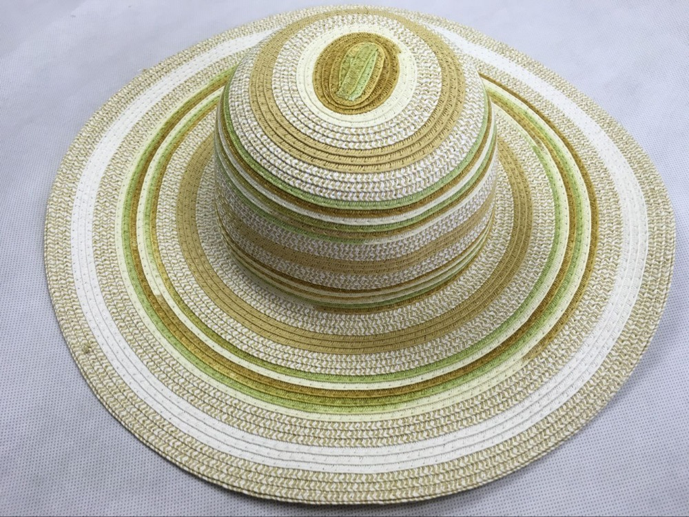 Fashion craft straw crochet lady floppy hats