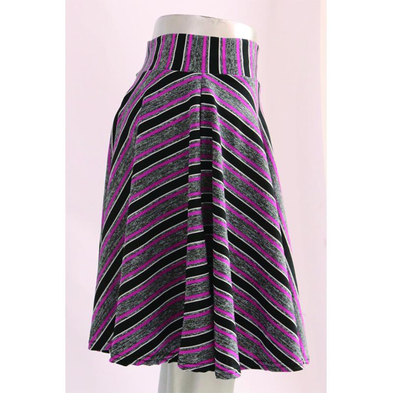 2019 新ファッション価格格安高ウエストの女性のカジュアルストライプ西洋ドレスミニスカート