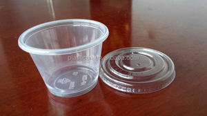 2.5oz plastic cup/ biodegradable 6 disposable plastic cups/ breakfast cereal cup