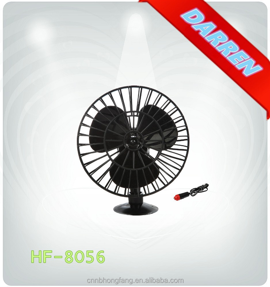 12v 5inch mini Summer Plastic Suction Car Fan auto Plastic Cooling Fan