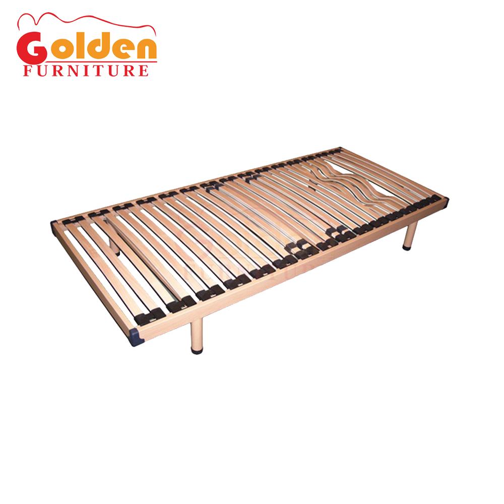 Single Bed Frame 3ft Manually Adjustable Solid Wood Slats Steel Star