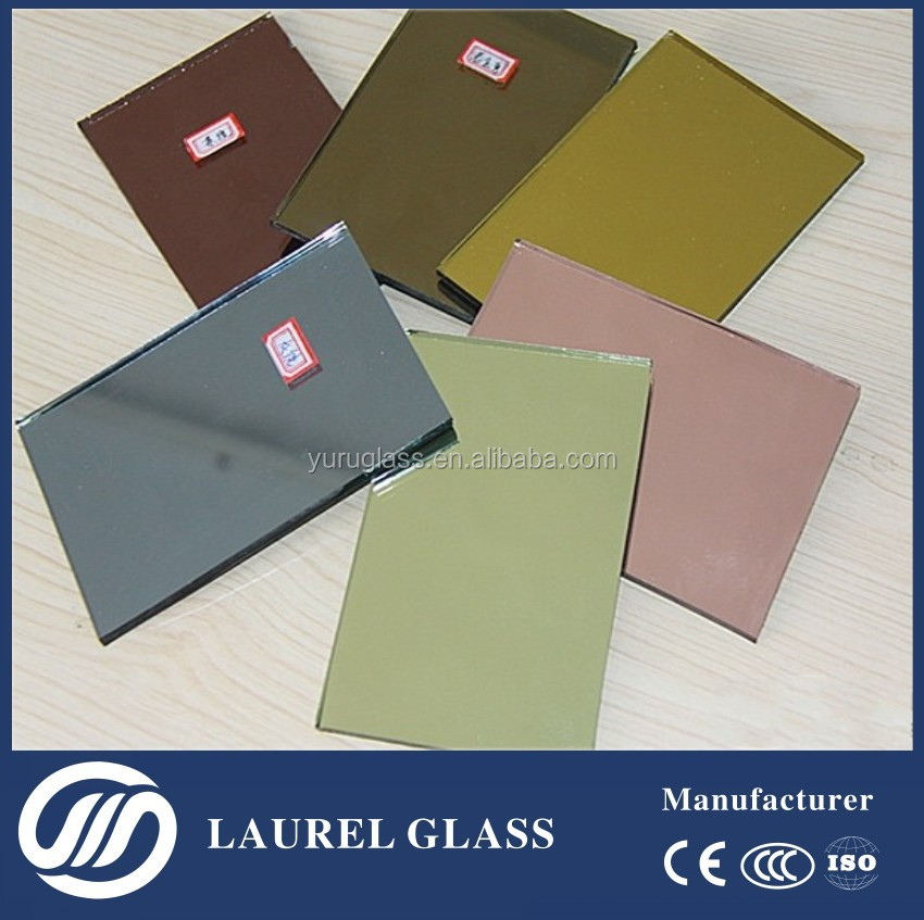 Colored Silver Mirror On Tined Float Glass Or Clear Float Glass