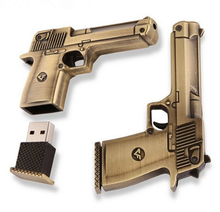 Hot Sale Gun Shape USB Flash Drive 4gb 8gb 16gb 32gb Creative Pendrive Memory Stick flash drive Thumb Gift