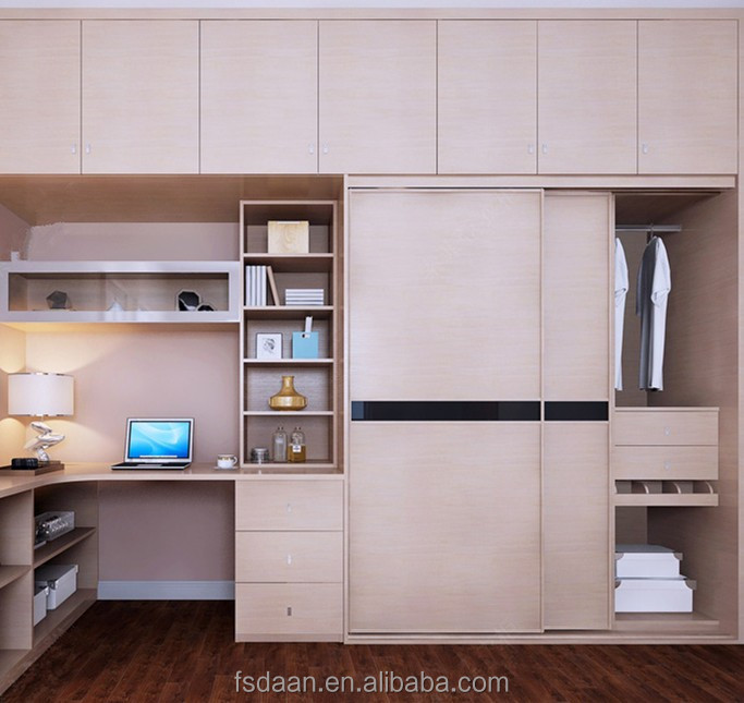 Wardrobe With Computer Table Desk Wardrobes Dressing And Book Shelf Product On Alibaba