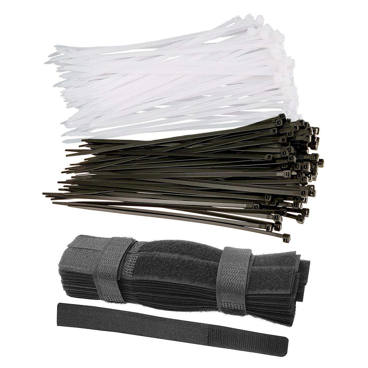 250PCS Cable Zip Ties, (6'' long 0.19'' wide) Heavy Duty Nylon Cable Zip Ties, Nylon Cable Self-locking Zip Ties, 7 In Black Reusable Fastening Cable Cord Tie Wire Organizer