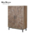 Industrial style vintage reclaimed elm 2 door rustic barn wood cabinets