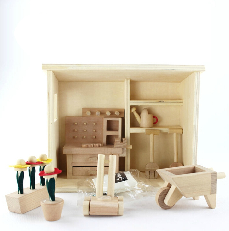 kids dollhouse furniture. Kids Toys Wooden Puzzle Mini Garden Furniture Package Model Dollhouse Free Shipping N