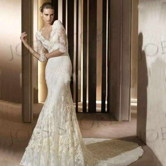 Classic Ivory Wedding Dresses: 2014-HOT-SALE-FTEE-SHIPPING-Custom-Classic-vintage-Lace