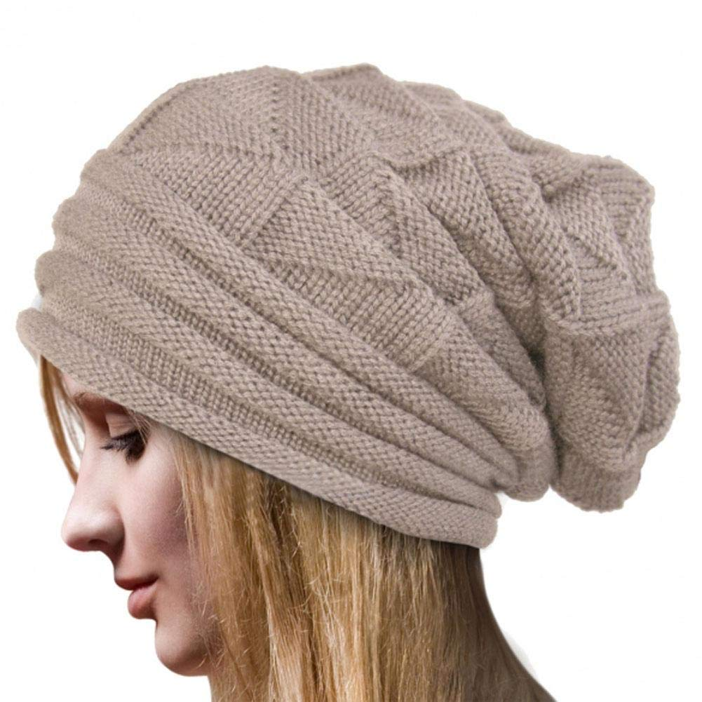 iBelly Pleated Cuffed Pullover Women's Cap Ladies' Autumn and Winter Skiing Wool Cap Outdoor Women's Knit Cap