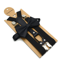 fashion high quality adults men suspenders and bow tie set