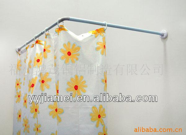 Aluminum Alloy L Shape Shower Curtain Rod