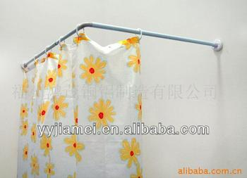 aluminum alloy l shape shower curtain rod