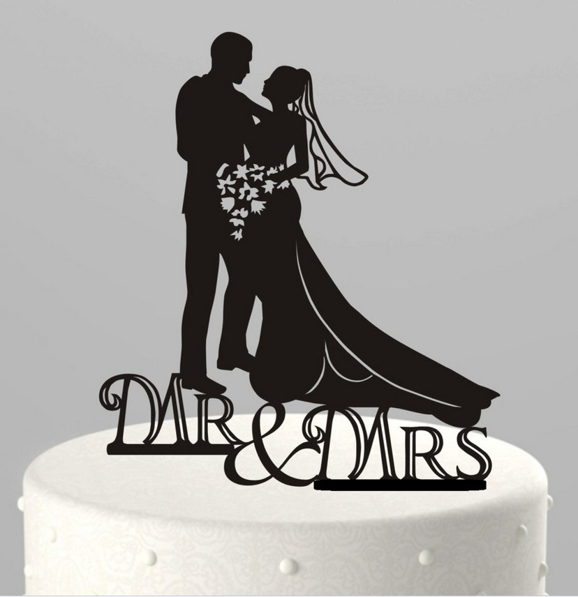 Acrylic-Cake Topper Wedding Mr /& Mrs Bride /& Groom Party Favours Decoration Gift