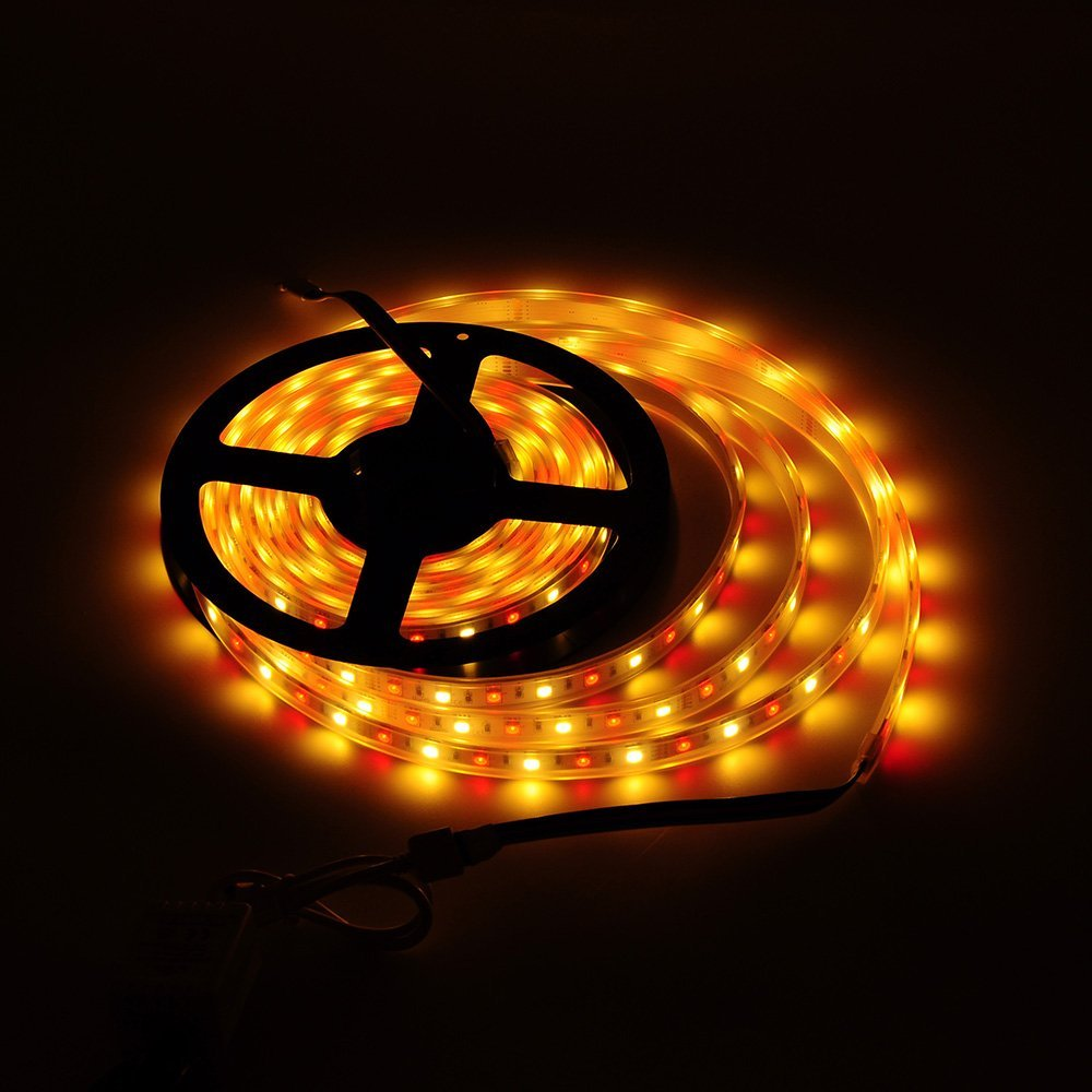 BTF-LIGHTING 5050 RGBW RGB+Warm Whtie strip 5M 16.4ft 60leds/m IP67 Waterproof in Tube Mixed Color led strip