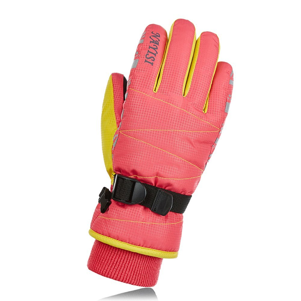 Luffar Waterproof Ski Gloves, Anti-cold Women/Men Windproof Thermal Winter Motorcycle Ski Gloves, WARM BUT BOT HEAVY-1 Pair