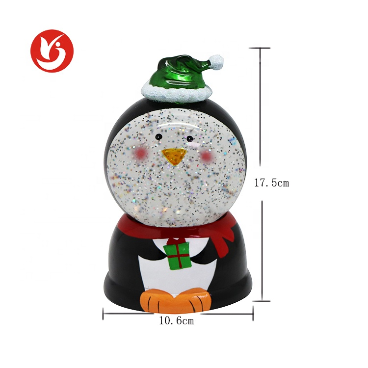 2020 new Battery Operated Led Water Decoration Christmas Gifts Snowman Snow Globe