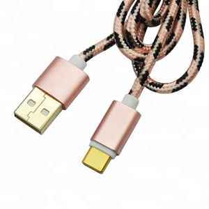 Wholesale Data Nylon Braided Micro/Type C Usb Charging Cable