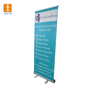 Portable Pvc Roll Up Pop Display Sign Retractable Banner Stand Outdoor Pull