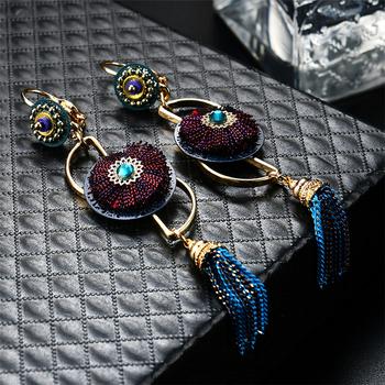 56a7854143fa El precio de fábrica al por mayor de estilo bohemio Vintage pendiente  elegante borla pendiente para