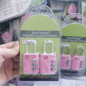 Factory direct Selling Twin pack luggage locks