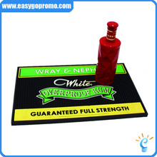 Bar Accessories Promotional Personalized PVC/Rubber Beer Bar Runner Mat Bar Spill Mat