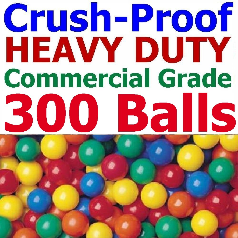 "My Balls Pack of Jumbo 3"" Crush-Proof Ball Pit Balls - 5 Bright Colors, Phthalate Free, BPA Free, PVC Free, non-Toxic, non-Recycled Plastic"