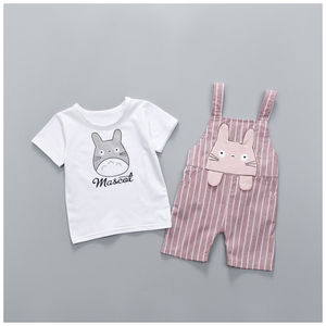 2018 New 0-4 Year Child Kids Baby Clothes Sets Organic Cottons Lovely Fashion 2 Pieces wholesale China Boys Girls Summer Styles