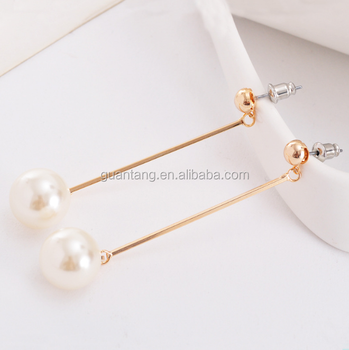 High Quality Copper Imitation Pearl Earrings Without Ear Hole Clip Fake Product On