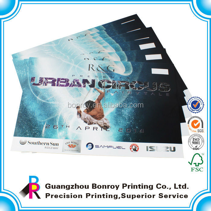 Custom Design high end full color printing custom poster