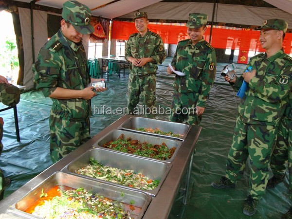 Military mobile kitchen for 150 man with cooking tools and accessories