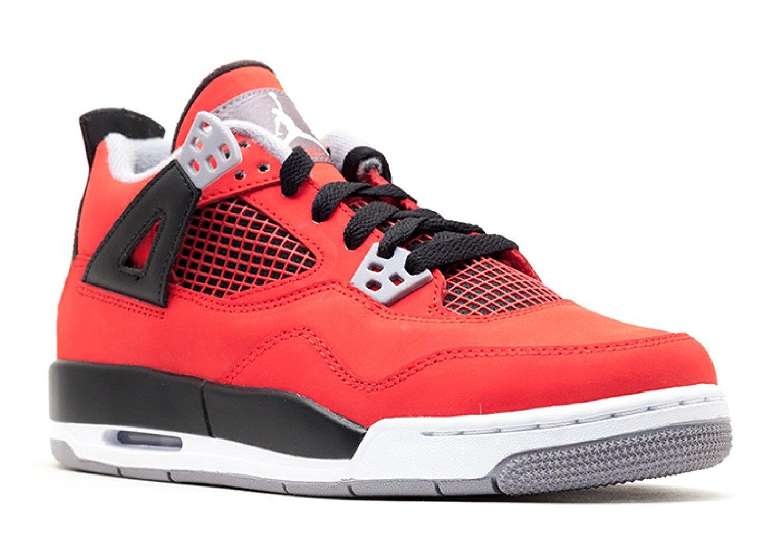 NIKE Boys Air Jordan 4 Retro (GS) Toro Suede Basketball Shoes