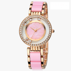U.S. Polo Assn. Women's Gold-Tone and Pink Bracelet Watches
