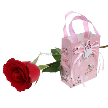 Cute Girl Boy Baby Shower Candy Gift Bags Tote 1st Birthday Party Favor Pink Blue