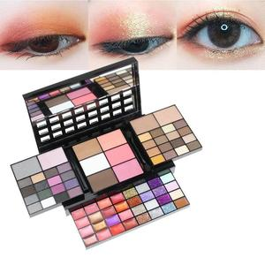 Shining makeup eye shadow palette private label glitter eye shadow 74 color makeup set