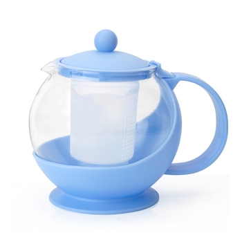 Wholesale Different Colour 750ml Plastic Small Glass Teapot With Infuser
