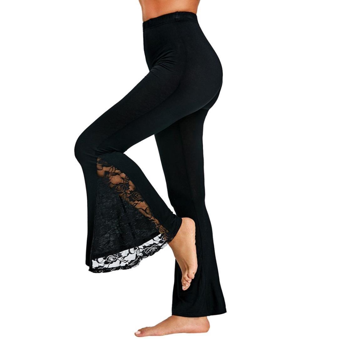 87cd737ea4ba1e Get Quotations · Fashion Womens Pants,kaifongfu Sexy High Waist Leggings  Trousers Lace Stitching Panel Casual High Waist