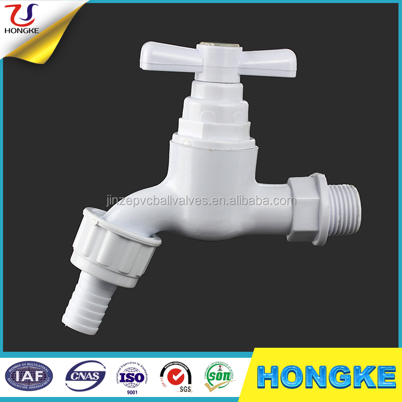 White Color Plastic Bathroom&garden Pvc Faucet Water Taps With ...