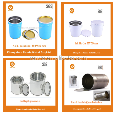 250 ML metalen lijm kan/hoge kwaliteit lege blikjes verf met deksel