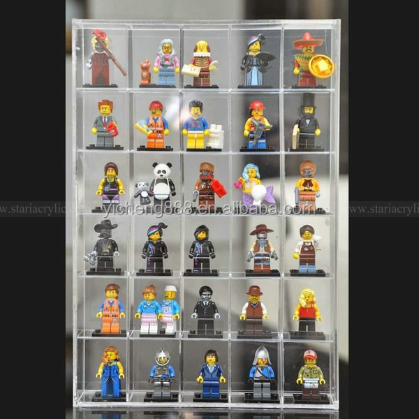 """3pcs /""""NEW/"""" lego minifigures display case /& figures case CASE ONLY"""