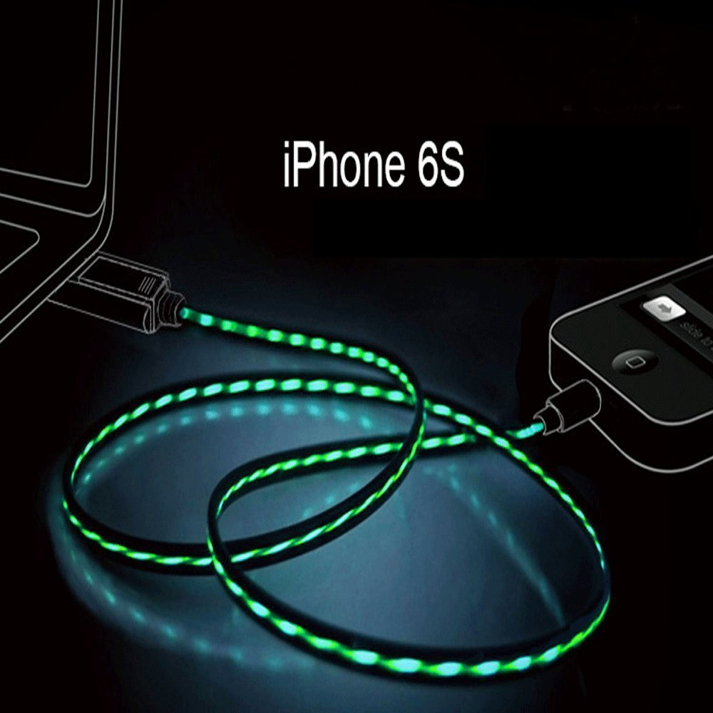 Cheap Light Green Iphone 4 Find Deals On Line Rock Flash Tube Bumper Original Case 6 6s Get Quotations Cdycam Usb Data Sync Cable 8pin Visible Intelligent Flowing Electroluminescent Wire For 5