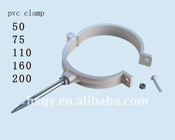4inch White Pvc Pipe Clamphang Type Clamp