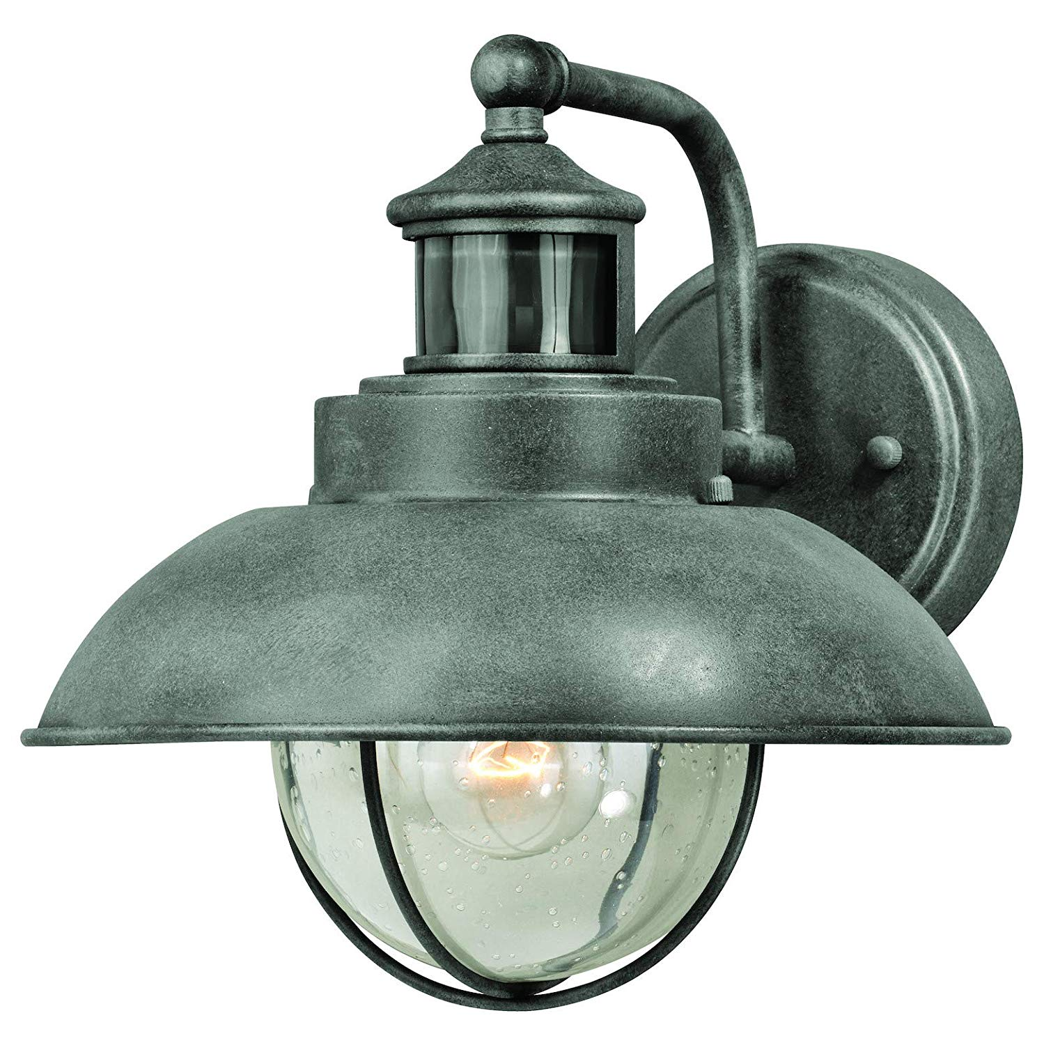 Harwich Dualux 10In. Outdoor Wall Light Textured Gray